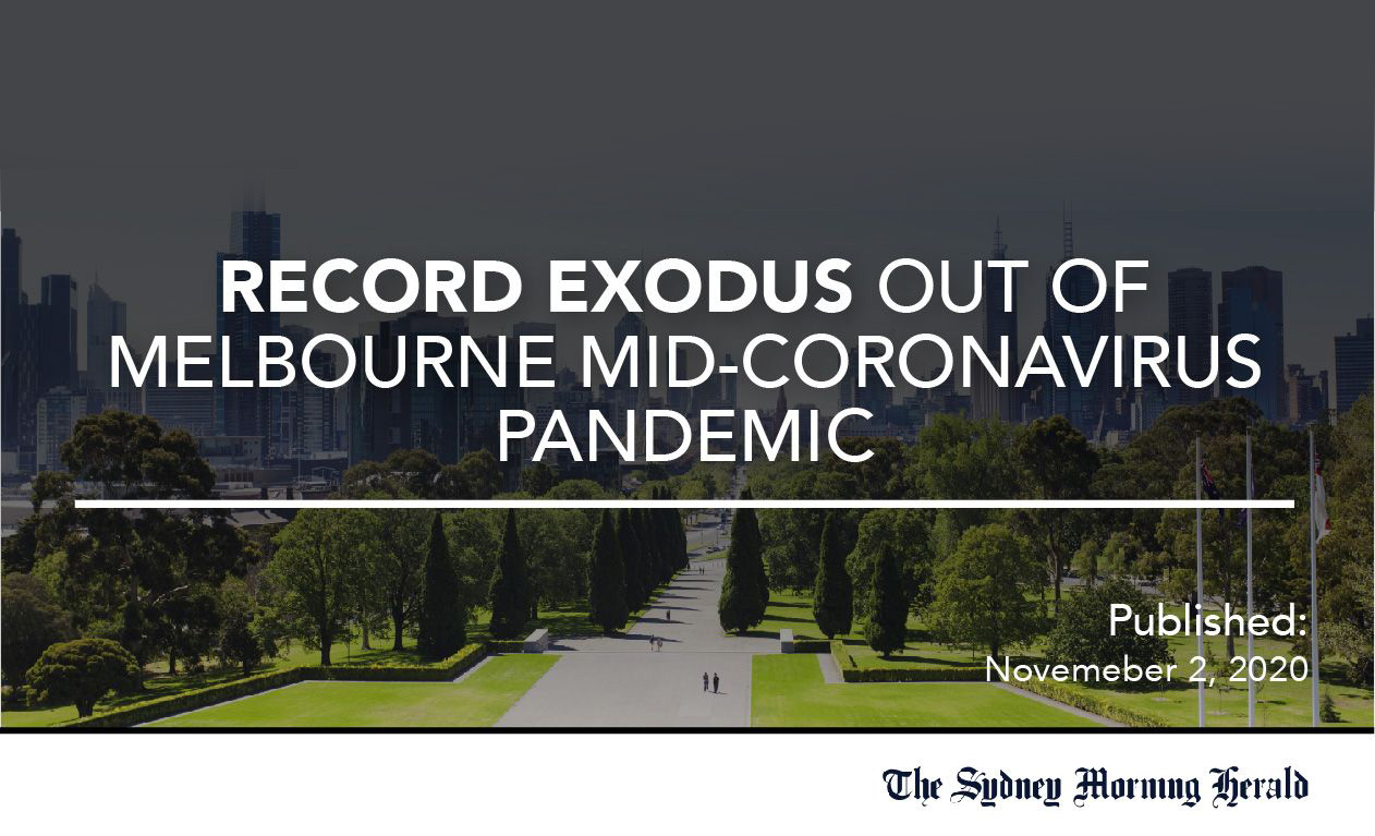 Record Exodus out of Melbourne Mid-Coronavirus Pandemic